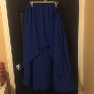 Royal Blue High-Low Skirt!